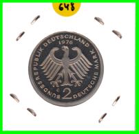 ALEMANIA - GERMANY -MONEDA DE 2.00 DM. THEODOR HEUSS - AÑO 1976- G CALIDAD PROOF S/C - [ 7] 1949-… : RFA - Rep. Fed. Alemana