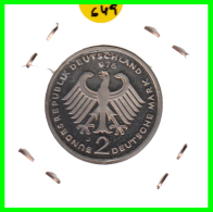 ALEMANIA - GERMANY -MONEDA DE 2.00 DM. THEODOR HEUSS - AÑO 1976-J  CALIDAD PROOF S/C - [ 7] 1949-… : RFA - Rep. Fed. Alemana