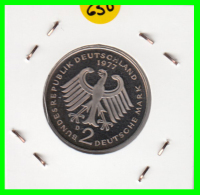 ALEMANIA - GERMANY -MONEDA DE 2.00 DM. THEODOR HEUSS - AÑO 1977-D CALIDAD PROOF S/C - [ 7] 1949-… : RFA - Rep. Fed. Alemana