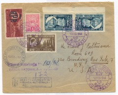 CIP 10 - ( 215-a ) - Bucuresti, National BANK - International REGISTERED Cover - Stamp Tete-beche - Used - 1948 - Covers & Documents