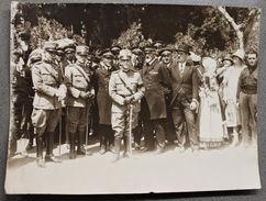 Foto D'epoca Manifestazione Militare Vittorio Emanuele III Anni '30 - Fotografia