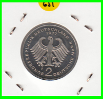 ALEMANIA - GERMANY -MONEDA DE 2.00 DM. THEODOR HEUSS - AÑO 1977-F  AÑO  CALIDAD PROOF S/C - [ 7] 1949-… : RFA - Rep. Fed. Alemana