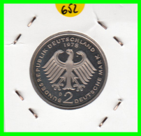 ALEMANIA - GERMANY -MONEDA DE 2.00 DM. THEODOR HEUSS -   AÑO 1978-D  CALIDAD PROOF S/C - [ 7] 1949-… : RFA - Rep. Fed. Alemana