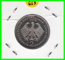 ALEMANIA - GERMANY -MONEDA DE 2.00 DM. THEODOR HEUSS - AÑO 1978-F CALIDAD PROOF S/C - [ 7] 1949-… : RFA - Rep. Fed. Alemana