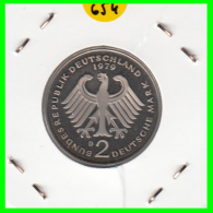 ALEMANIA - GERMANY -MONEDA DE 2.00 DM. THEODOR HEUSS - AÑO 1979-D CALIDAD PROOF S/C - [ 7] 1949-… : RFA - Rep. Fed. Alemana