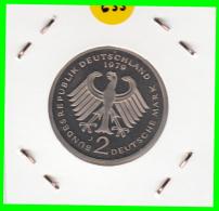 ALEMANIA - GERMANY -MONEDA DE 2.00 DM. THEODOR HEUSS - AÑO 1979-J CALIDAD PROOF S/C - [ 7] 1949-… : RFA - Rep. Fed. Alemana