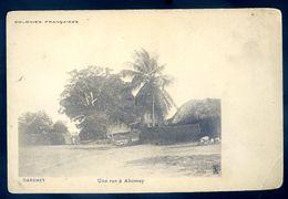 Cpa Du Dahomey Une Rue à Abomey      Sep17- 68 - Dahomey