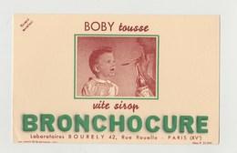 BUVARD BRONCHOCURE Laboratoires BOURELY , BOBY Tousse - Droguerías