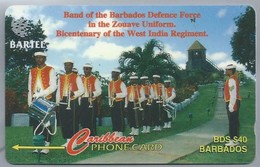 Telefoonkaart. Caribbean PHONE CARD. BARTEL. Band Of The Barbados Defence Force In The Zouave Uniform 2 SCANS - Antilles (Netherlands)