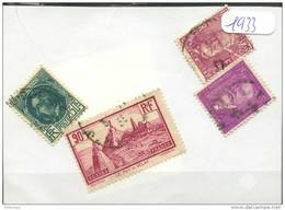 France  Années Completes (o) 1933 (4 Timbres) - ....-1939