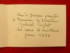 MANUSCRIT CLAUDE DURRENS VOEUX 1990 ORIGINAL - Manoscritti