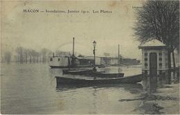 41- MACON - Inondations , Janvier 1910- Les Plattes -ed. Lemanou-Ducoté - Macon