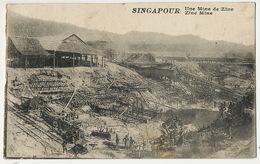 Singapore   Singapour Une Mine De Zinc Zinc Mine  P. Used Sinpapore To Campigneulles Les Grandes Wailly - Singapour