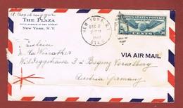 Brief 1940Plaza Hotel New York - Bregenz  Wehrmachtszensur  Gefalted 2 Scan - Briefe U. Dokumente