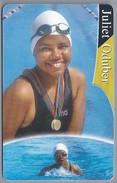 Telefoonkaart. ARUBA PHONE CARD. JULIET ODUBER. SPECIAL OLYMPICS 1995. 3 Medaya. 2 Scans - Antilles (Netherlands)