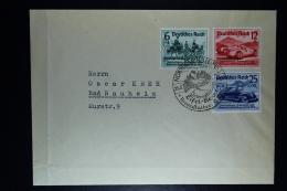 Deutsche Reich: Cover 1939 Nürburgring  -> Bad Neuheim Mi 695 - 697 - Deutschland