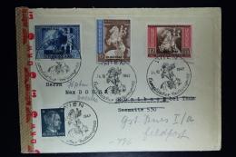 Deutsche Reich: Cover Wien-> Hunibach -> Feldpost 1942 Mi  823 + 825 Censor Cancels And Strip - Deutschland