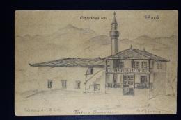 Deutsche Reich: 1916 Feldpostkarte Mit Gezeichnetem Bild - Briefe U. Dokumente