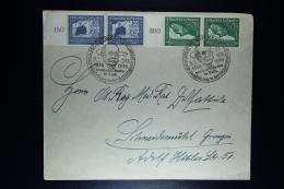 Deutsche Reich: Cover Friedrichshafen 1938 100. Geburtstag Grafen Von Zeppelin  Ausstellung Mi 669 + 670 Randparen - Posta Aerea