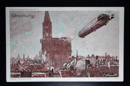 Deutsches Reich Zepplin Postkarte  Nr 3 Strasburg - Luftpost