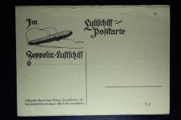 Deutsches Reich Zepplin Postkarte  Luftschiff Postkarte - Luftpost