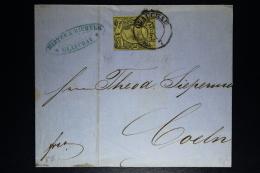 Sachsen Cover  Glauchau -> Coeln Köln 1863 Mi 11 - Sachsen