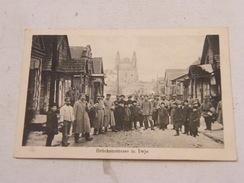 Carte Postale Russie Bruckenstrasse In Iwje 1916 - Russie