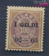 Island 34A Mit Falz 1902 Aufdruckausgabe (8304891 - Neufs