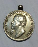 REGNO D' ITALIA - Medaglia Risorgimentale In Argento Guerre Per L' Indipendenza E L' Unità D'Italia (31mm) - Medaglie
