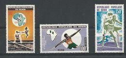 BÉNIN Scott 376-378 Yvert  397-399 (3) ** Cote 6,00$ 1977 - Bénin – Dahomey (1960-...)