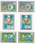 BÉNIN Scott 397-399, 400-402 Yvert  419-421, 426-428 (6) ** Cote 23,00$ 1978 Avec Et Sans Surcharge - Bénin – Dahomey (1960-...)