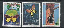BÉNIN Scott 490-492 Yvert  505-507 (3) ** Cote 7,50$ 1980 - Bénin – Dahomey (1960-...)
