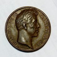 CHARLES X - Medaille En Bronze (1827 - 27mm) DUACI MANENTE CAROLO DECIMO ... - Monarchia / Nobiltà