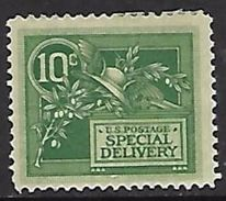 US  1908  Sc#E7   10c Special Delivery  MH*  2016 Scott Value $65 - Special Delivery, Registration & Certified