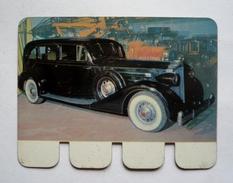 """Plaquette Tôle Publicité COOP - """" L'auto à Travers Les âges"""" - PACKARD 1934 - 80 X 60 Mm - Advertising (Porcelain) Signs"""