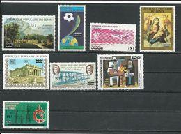 BÉNIN Scott C334-C340, 601 Yvert  PA334-PA340, 620 (8) ** Cote 71,00$ 1985 Surcharge - Bénin – Dahomey (1960-...)