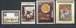 BÉNIN Scott 639, 642, 647, 667 Yvert  649, 652, 657, 679 (4) ** Cote 10,00$ 1987-9 - Bénin – Dahomey (1960-...)