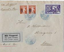 1924 FLUGPOST BASEL MUSTERMESSE-BERN → Brief Mit   ►SBK-F7, 2x146◄ - Poste Aérienne