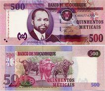 MOZAMBIQUE       500 Meticais       P-153       16.6.2011       UNC - Mozambico