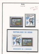 BÉNIN Scott 687-688, 688a Yvert  699-700, BF29 (2+bloc) ** Cote 34,00$ 1992 - Bénin – Dahomey (1960-...)