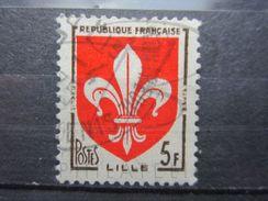 VEND BEAU TIMBRE DE FRANCE N° 1186 , TACHE ROUGE DANS LA FLEUR DE GAUCHE !!! (a) - Errors & Oddities