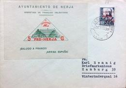 España 1936. Canarias. Carta De Tenerife A Hamburgo. Censura. - Marcas De Censura Nacional