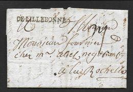 Seine Maritime - Marque  DE.LILLEBONNE  Sur Lettre De  1756 - 1701-1800: Precursors XVIII