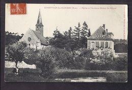 CPA 27 - CORNEVILLE-les-CLOCHES - L'Eglise Et L'Ancienne Maison Des Moines - TB PLAN EDIFICES CENTRE VILLAGE - Francia