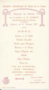 Menu 1923 - LE MANS, Sarthe - Banquet De Clôture Exposition - Menu