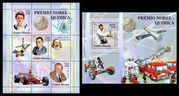 GUINEA BISSAU 2005 - Chemistry Nobel Prize - YT 2013-5 + BF277 - Chimie