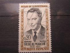 VEND BEAU TIMBRE DE FRANCE N° 1248 , BALAFFRE JOUE GAUCHE , XX !!! - Errors & Oddities
