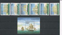 BÉNIN Scott 850-855,856 Yvert  710AH-710AL, BF29L (6+bloc) ** Cote 10,60$ 1996 - Bénin – Dahomey (1960-...)
