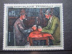 VEND BEAU TIMBRE DE FRANCE N° 1321 , BANDEAU BLANC SUR LE FRONT DU JOUEUR DE DROITE , XX !!! - Errors & Oddities