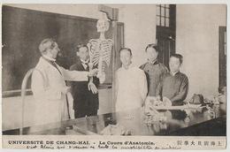 Shanghai Université De Chang Hai Le Cours D' Anatomie Skeleton 1919 Bolchevik Aurore - Chine